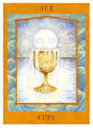 Ace of Cups Tarot card in Goddess Tarot deck