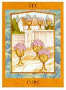 Six of Cups Tarot card in Goddess Tarot deck