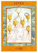 Seven of Cups Tarot card in Goddess Tarot deck