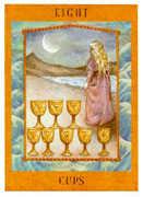 Eight of Cups Tarot card in Goddess Tarot deck