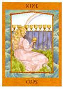 Nine of Cups Tarot card in Goddess Tarot deck