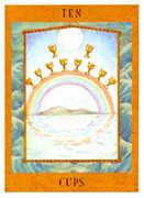 Ten of Cups Tarot card in Goddess Tarot deck