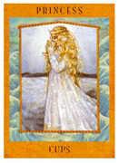 Princess of Cups Tarot card in Goddess deck