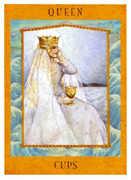 Queen of Cups Tarot card in Goddess deck