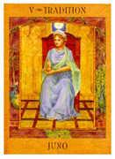 The Hierophant Tarot card in Goddess Tarot deck
