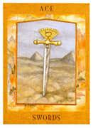 Ace of Swords Tarot card in Goddess deck