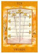 Ten of Swords Tarot card in Goddess Tarot deck