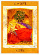 The Lovers Tarot card in Goddess Tarot deck