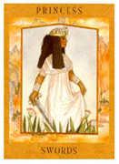 Princess of Swords Tarot card in Goddess deck