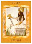 Queen of Swords Tarot card in Goddess deck