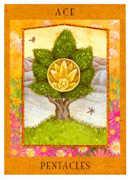 Ace of Pentacles Tarot card in Goddess deck