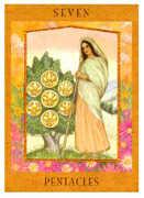 Seven of Pentacles Tarot card in Goddess Tarot deck