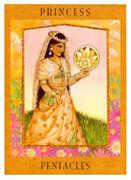 Princess of Pentacles Tarot card in Goddess Tarot deck