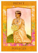 Prince of Pentacles Tarot card in Goddess Tarot deck