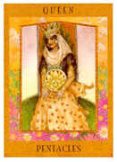 Queen of Pentacles Tarot card in Goddess Tarot deck