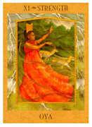 Strength Tarot card in Goddess Tarot deck