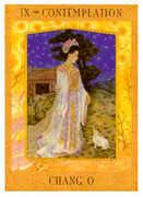 The Hermit Tarot card in Goddess deck