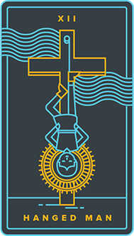 The Hanged Man Tarot Card - Golden Thread Tarot Deck