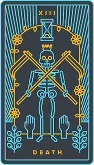 Death Tarot Card - Golden Thread Tarot Deck