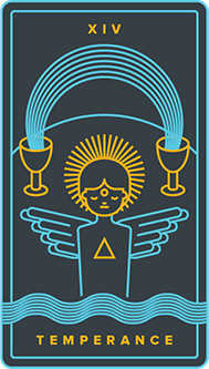 Temperance Tarot Card - Golden Thread Tarot Deck