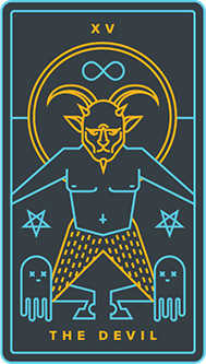 The Devil Tarot Card - Golden Thread Tarot Deck