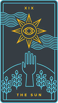 The Sun Tarot Card - Golden Thread Tarot Deck