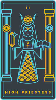 The Priestess Tarot Card - Golden Thread Tarot Deck