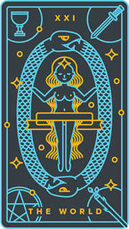 The Universe Tarot Card - Golden Thread Tarot Deck
