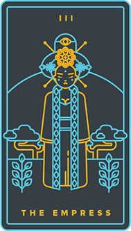 The Empress Tarot Card - Golden Thread Tarot Deck