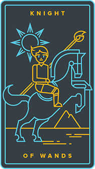 Knight of Rods Tarot Card - Golden Thread Tarot Deck