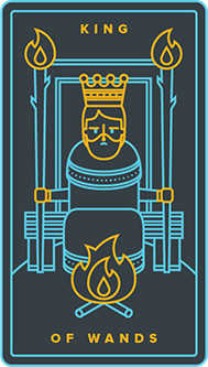 King of Batons Tarot Card - Golden Thread Tarot Deck