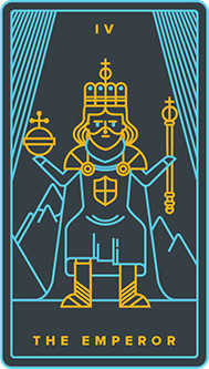 The Emperor Tarot Card - Golden Thread Tarot Deck