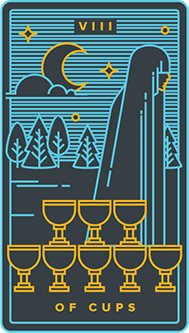 Eight of Cauldrons Tarot Card - Golden Thread Tarot Deck