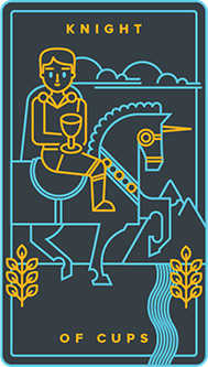 Knight of Cups Tarot Card - Golden Thread Tarot Deck