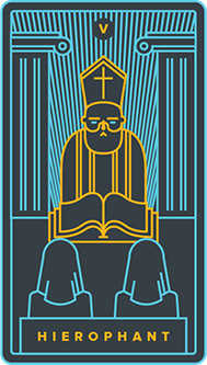 The Hierophant Tarot Card - Golden Thread Tarot Deck