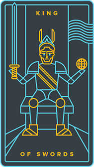 King of Swords Tarot Card - Golden Thread Tarot Deck