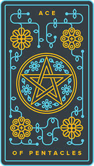 Ace of Coins Tarot Card - Golden Thread Tarot Deck