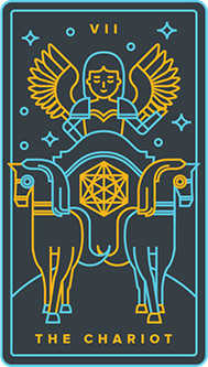 The Chariot Tarot Card - Golden Thread Tarot Deck