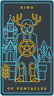 King of Pentacles Tarot Card - Golden Thread Tarot Deck