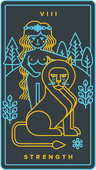 Strength Tarot Card - Golden Thread Tarot Deck