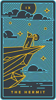 The Anchoret Tarot Card - Golden Thread Tarot Deck