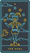 The Fool Tarot card in Golden Thread Tarot deck