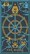 Wheel of Fortune Tarot card in Golden Thread Tarot Tarot deck