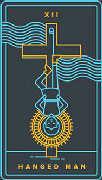 The Hanged Man Tarot card in Golden Thread Tarot Tarot deck