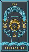 Temperance Tarot card in Golden Thread Tarot deck