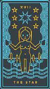 The Star Tarot card in Golden Thread Tarot Tarot deck
