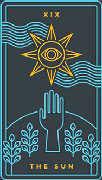 The Moon Tarot card in Golden Thread Tarot deck