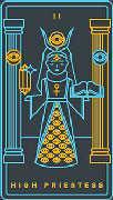 The High Priestess Tarot card in Golden Thread Tarot Tarot deck