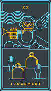 Judgement Tarot card in Golden Thread Tarot deck
