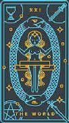 The World Tarot card in Golden Thread Tarot deck